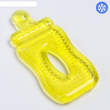 Игрушка прорезывательбутылочка с водой, цвета микс