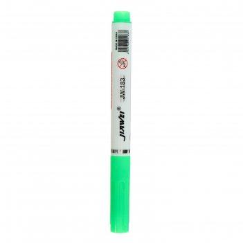 Маркер текстовыделитель наконечник скошенный 4мм зеленый