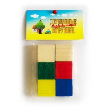 Кубики цветные 6 шт