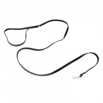 Поводок кожаный однослойный, 1.2 м х 0.8 см, микс