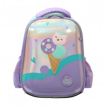 Рюкзак каркасный hatber ergonomic light 38 х 29 х 6, для девочки sweet cat