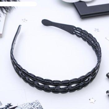 Ободок для волос прозрачный 2,5 см бантик микс