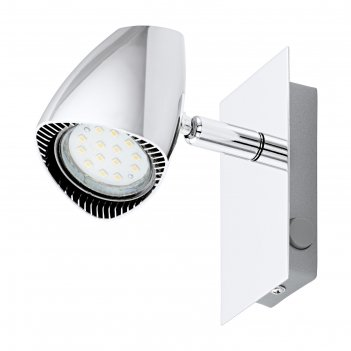 Светильник corbera 1x3вт gu10 хром 12x12см