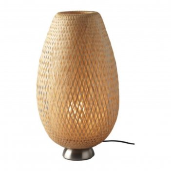 Настольная лампа boja 1x75вт е27 никель 20x20x40см