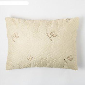 Подушка верблюжья шерсть 50х70 см, полиэфирное волокно, пэ 100%