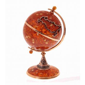 Сувенир глобус (бронза)