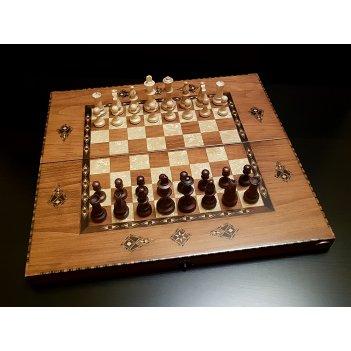 Шахматы - нарды константа 54 см граб антик