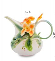 Fm-82/ 1 заварочный чайник лягушки и цветы канны (pavone)