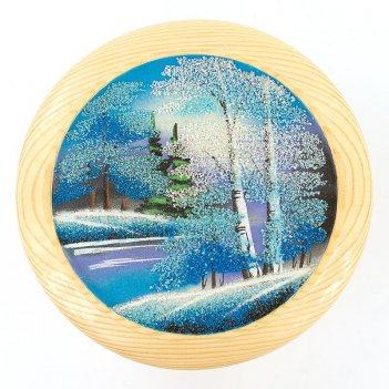 Тарелка декоративная зима д-25см