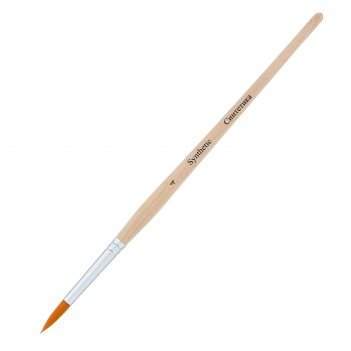 Кисть синтетика круглая зхк эконом № 4 короткая ручка 139678
