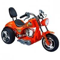 Мотоцикл эл.спорт, оранж., звук, аккум 6v/7ah ,25w