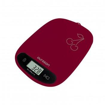 Весы кухонные oursson ks0504pd/dc, электронные, до 5 кг, сенсор, 1хcr2032,