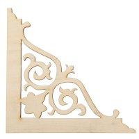 Декоративный элемент для творчества уголок №13 12х12 см (80795)