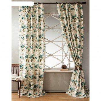 Комплект штор «вилла», размер 200х270 см, голубой