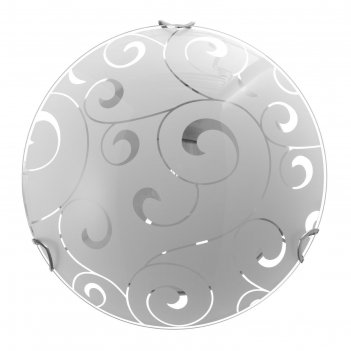 Светильник марокко моллир. 1х60вт е27, хром, d=25 см,  h=4,5 см