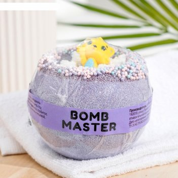 Бомбочка для ванн bomb master зоопарк фиолетовые, 290 гр.