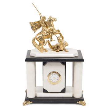 Часы георгий победоносец мрамор 170х120х270 мм 3000 гр.