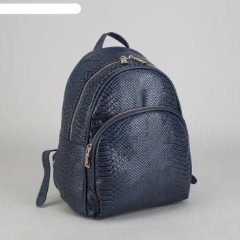 Рюкзак молодёжный, отдел на молнии, наружный карман, эргономичная спинка,
