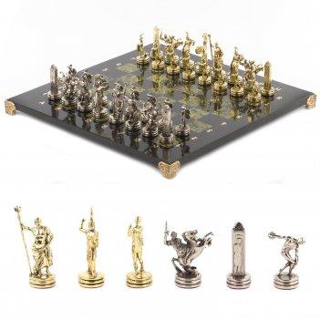 Шахматы метатели дисков доска 360х360 мм змеевик металл