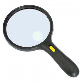 Лупа kromatech ручная круглая 1,8/5х, 138 мм, с подсветкой (3 led), черная