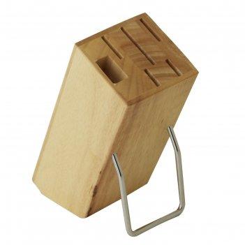 Подставка для набора ножей (гевея)