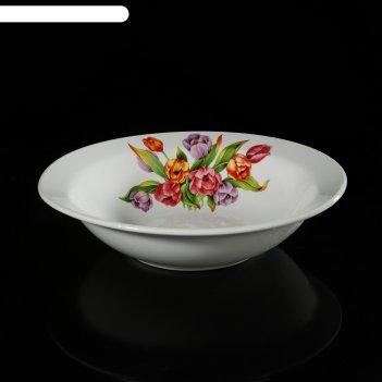 Салатник 200 мм тюльпаны