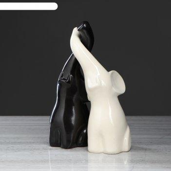 Статуэтка слоники черный/белый