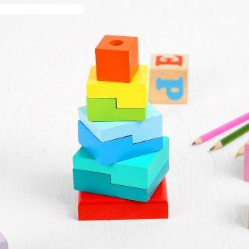 Пирамидка ступеньки, 8 элементов