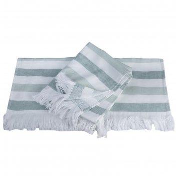 Полотенце stripe, размер 70 x 140 см, зелёный