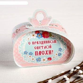 Пасхальная коробочка хв кулич, яйца