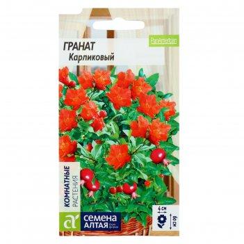 Семена комнатных цветов гранат карликовый, мн, цп, 5 шт.