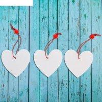 Подвеска новогодняя сердце, (набор 3 шт.)