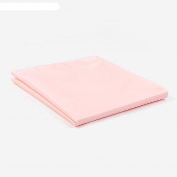 Наматрасник на резинке дышащий, 70*120 см, цвет розовый