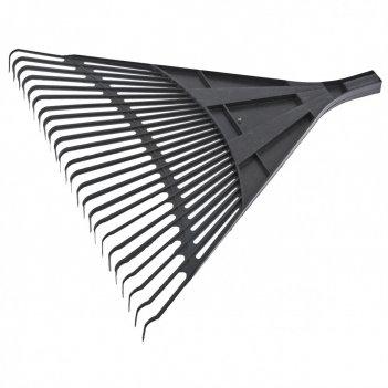 Грабли веерные пластиковые, 600 мм, 24 плоских зуба, без черенка, россия с