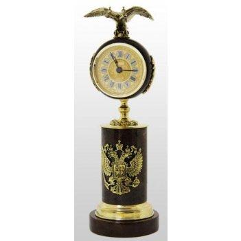 Часы подарочные из обсидиана с орлом
