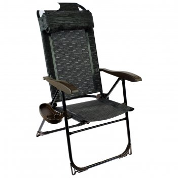 Кресло-шезлонг, 75 x 59 x 109 см, венге, кш2/5, с полкой