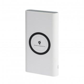 Внешний аккумулятор luazon home 8000 mah, с беспроводной зарядкой,type c,u