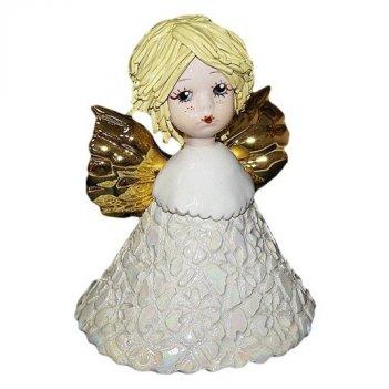 80148 ангел-колокольчик со светлыми волосами, h10