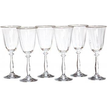 Набор бокалов для вина из 6 шт.анжела оптик 250 мл. высота=21 см. (кор=8на