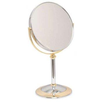 Зеркало b7 8011 c/g chrome&gold наст. кругл. 2-стор. 5-кр.ув
