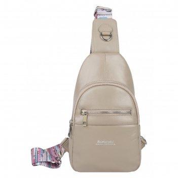 Рюкзак женский, на одно плечо, светлое латте, 155x290x60