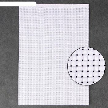 Канва для вышивания №11, 30 x 20 см, цвет белый