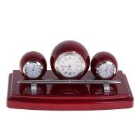 Набор настольный 4в1 (часы,термометр,барометр, ручка)