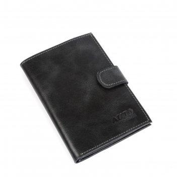 Бумажник водителя o-179, кнопка, черный пулап