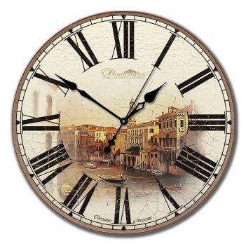Настенные часы из дерева династия 02-002 старинная венеция
