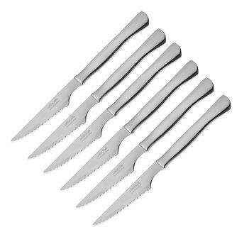 Набор столовых ножей для стейка 6 шт., рукоять нержавеющая сталь, серия st