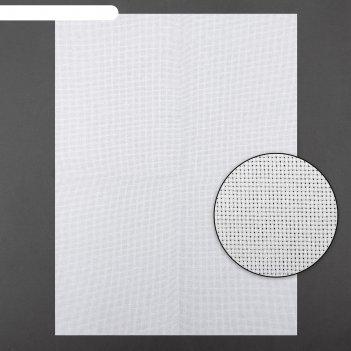 Канва для вышивания, №18, 30 x 40 см, цвет белый