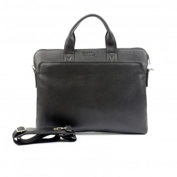 Портфель мужской наружный карман, цвет чёрный