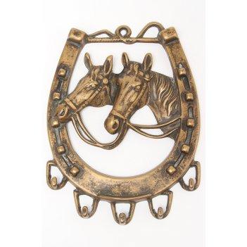 Настенная ключница лошадь, 16х21 см