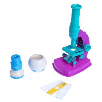 Микроскоп кратн 150, калейдоскоп, телескоп, стеклышки, 24*27см  микс